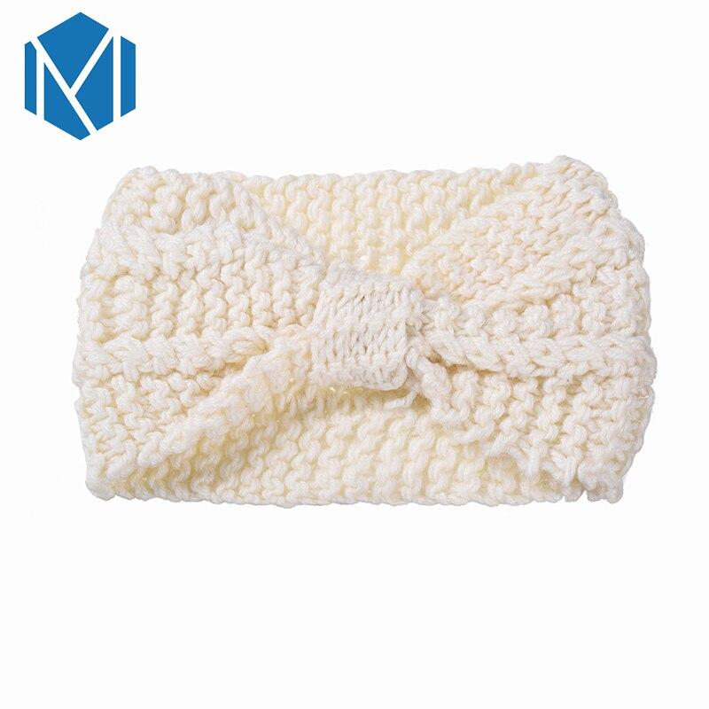 Niñas suave tejido de punto diadema femenina lana Invierno Caliente ...