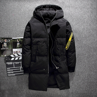 2018 Fashion High Street White Duck Down Jacket Men Winter men's down jacket Hooded Thick Keep Warm Long Coat Men Outerwear