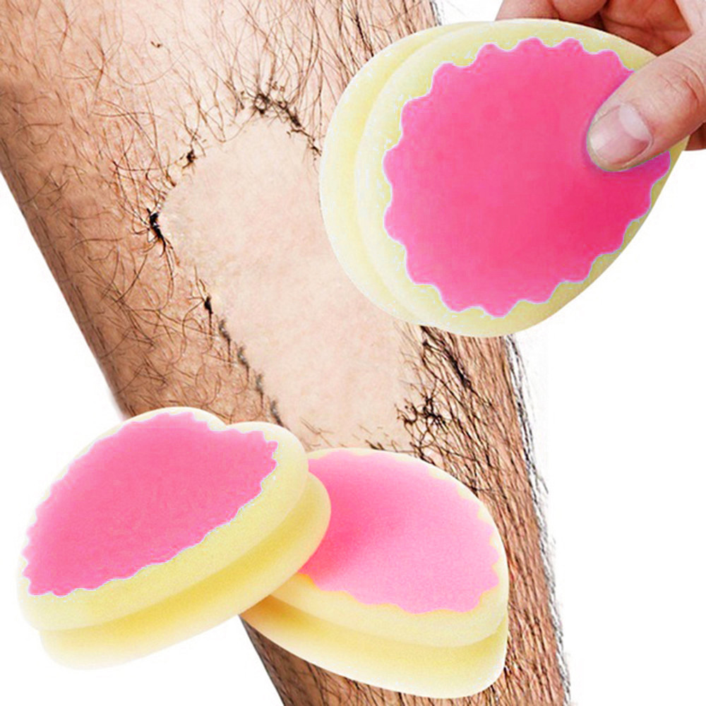 1Pcs Magic Painless Hair Removal Depilation Sponge Pad Remove Hair Remover Effective Beauty Tool Dropshipping YJJ2