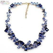 2016 de calidad superior ZA todo cristal declaración de Moda Collar babero del collar de gargantilla collar de cristal para las mujeres precio al por mayor