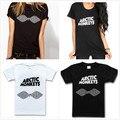 Arctic Monkeys Letras Imprimir Mujeres Camiseta de Algodón Camisa Ocasional De Señora Blanco Negro Top Tee Gran Tamaño Hipster HH503-455