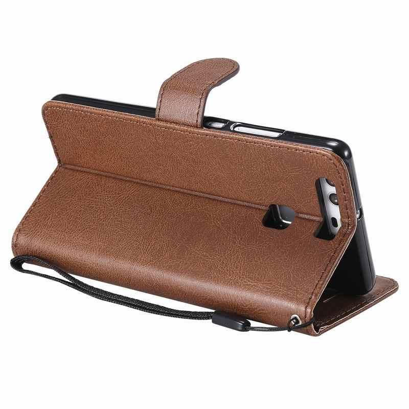 جراب لهاتف هواوي P8 P9 لايت فاخر مع محفظة فتحة بطاقة مغناطيسي محفظة هاتف من الجلد لهاتف هواوي P 8 9 p9lite Coque