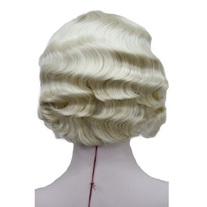 Image 5 - StrongBeauty 1920s Flapper Hairstyles for Women Finger Wave Wigs Retro Style Short Synthetic Wig