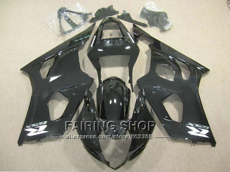 Injection molding high quality fairings for Suzuki GSXR1000 03 04 K3 black fairings set GSXR 1000 2003 2004 K4 YI123 100% fit for suzuki injection molding gsxr1000 fairing kit k3 k4 2003 2004 brown black fairings set gsxr 1000 03 04 ap34