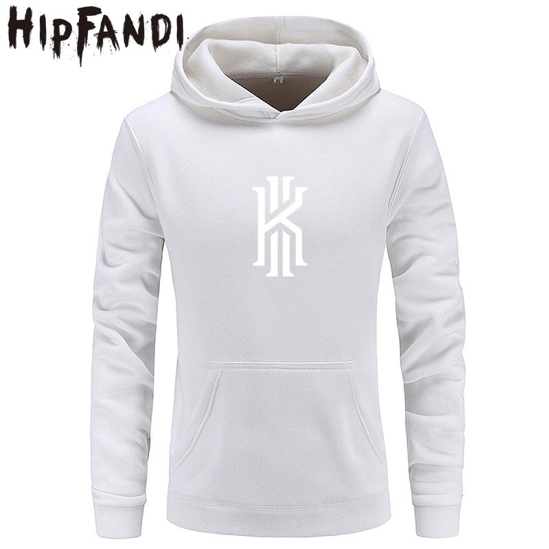 HIPFANDI Nouvelle Kyrie Irving Imprimé À Capuche Hoodies Hommes Automne Hiver Coton À Manches Longues Hip Hop Kyrie Irving Streetwear Vêtements