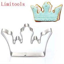 1PC Stainless Steel Princess Crown King Queen Party Cookie Cutter Cake Biscuit Baking Tool Mold Bakeware Tools(China)