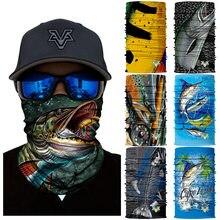 Pañuelos de pesca para hombre, bufanda de Camping, máscara de rostro pañuelo, bufanda de bicicleta, Escudo de pez, protector solar, deportes al aire libre
