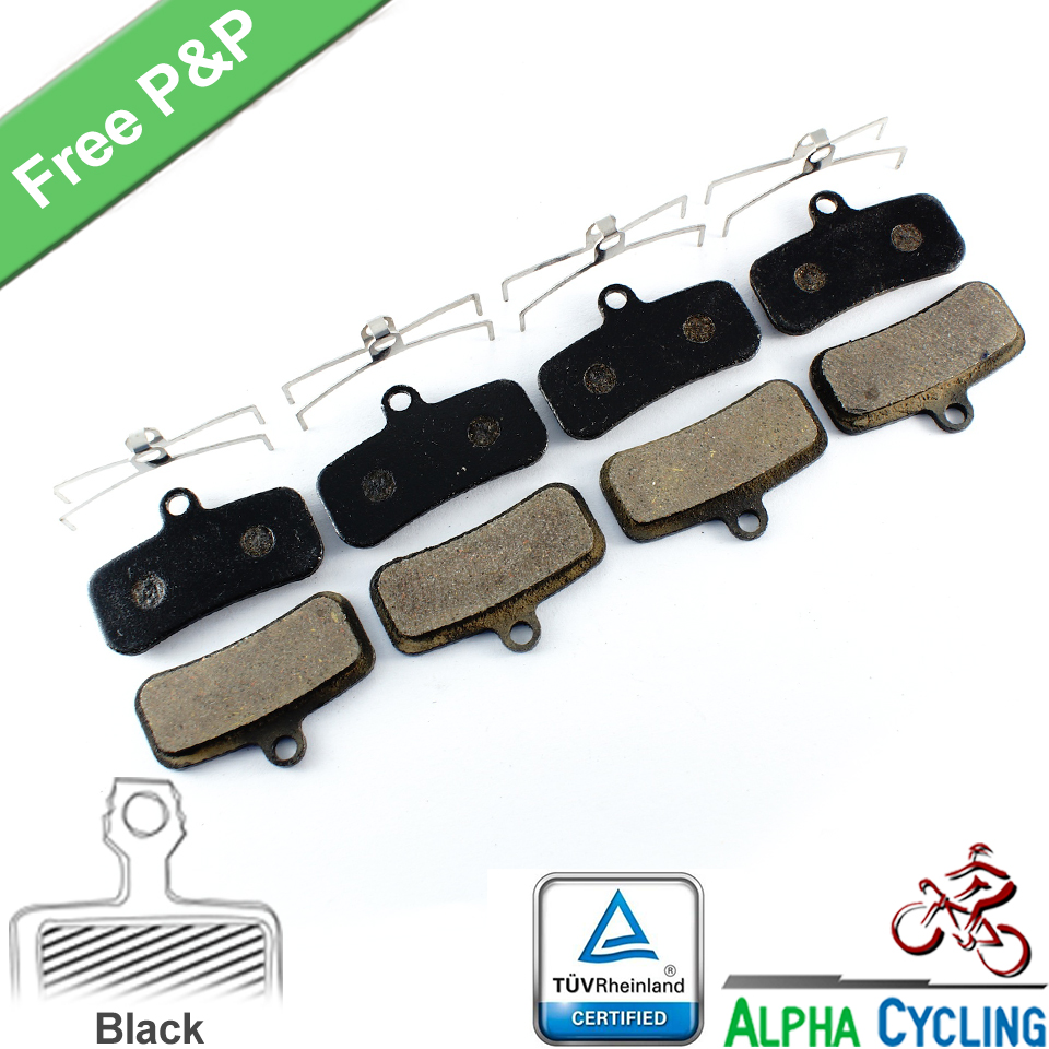 Bicycle Disc Brake Pads for SHIMANO Zee/Saint/M640/M800/M810/M820 Disc Brake, 4 Pairs, Black Class Resin