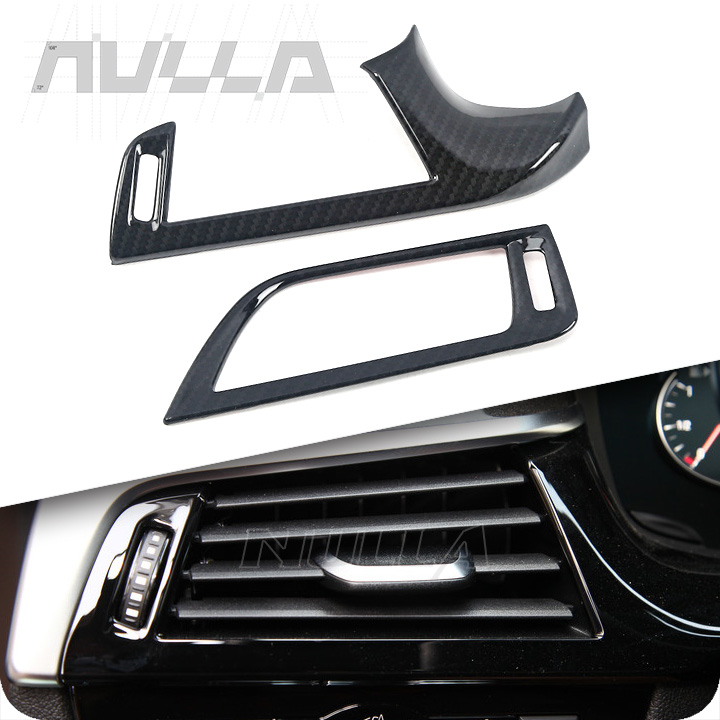 Carbon Look Front Both Sides Air Conditioning Outlet Cover Trim For BMW 5series G30 LHD 2017 2018 Chrome Decoration Frame