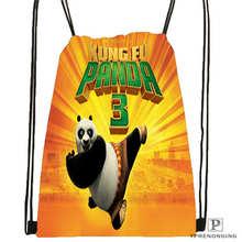 Custom kung-fu-panda@01   Drawstring Backpack Bag Cute Daypack Kids Satchel (Black Back) 31x40cm#20180611-02-66