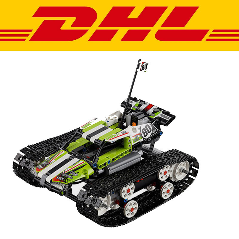 2017 LEPIN 20033 397Pcs Technic Radio Controlled Tracked Racer Model Building Kits Minifigure Blocks Brick Compatible Toys 42065 radio controlled toys