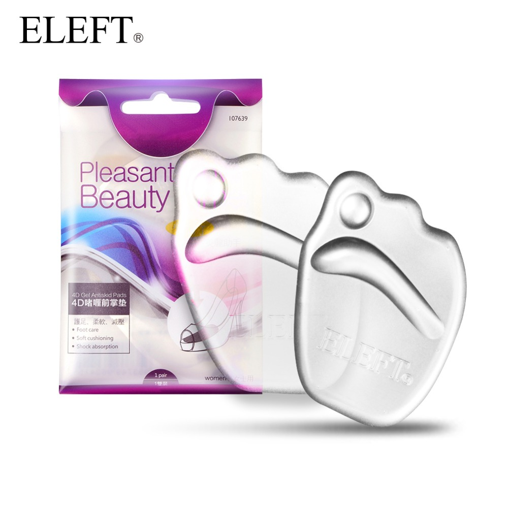 ELEFT gel silicone forefoot pad pads insoles inserts massager anti-slip for high heels woman shoes sandals shoes accessories orthotic arch support gel pads non slip pain relief shoes insoles high heels silicone gel forefoot gel pads 1 pair ais646