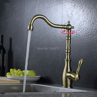 Wholesale Classic Style Unique Design High Quality Single Hole High Arc Kitchen Sink Faucet with Swivel Spout, Brushed Bronze