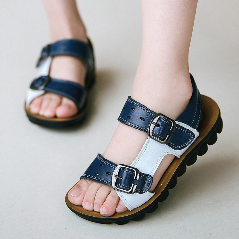 Children's Sandals 2019 Summer New Boy Casual Leather Sandals Boys Beach Shoes