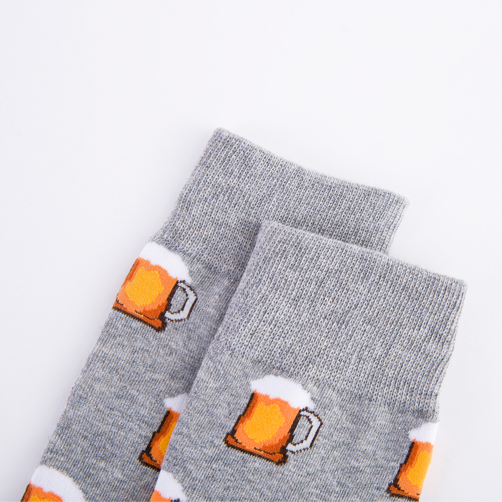 Colorful Hot Dog Hamburg Beer Pattern Novelty Crew Socks Men 39 s Funny Food Kawaii Sokken Creative Casual Cotton Socks For Male in Men 39 s Socks from Underwear amp Sleepwears