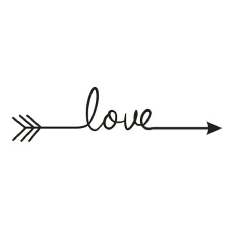 New Qualified Wall Stickers Love Arrow Decal Living Room