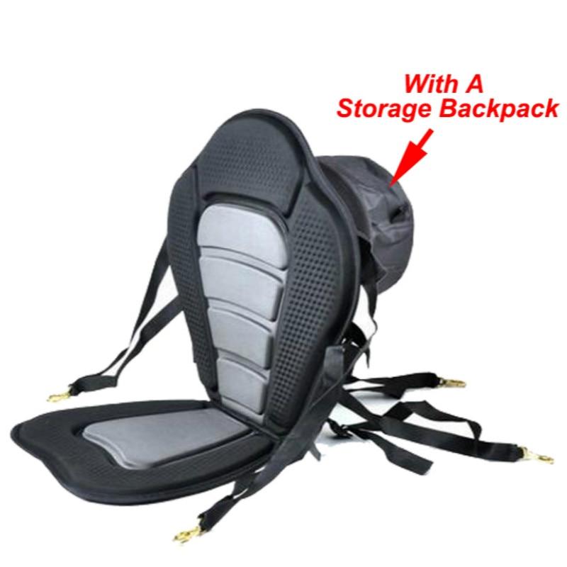 Adjustable Kayak Cushion Canoe Backrest Seat Inflatable Boat Seat With Storage Bag Rowing Boat Padded Fishing