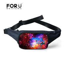 FORUDESIGNS Galaxy Sky City Jogging Bags Outdoor Sport Classical Small Running Packs for Men and Women Blue Money Phone Bag