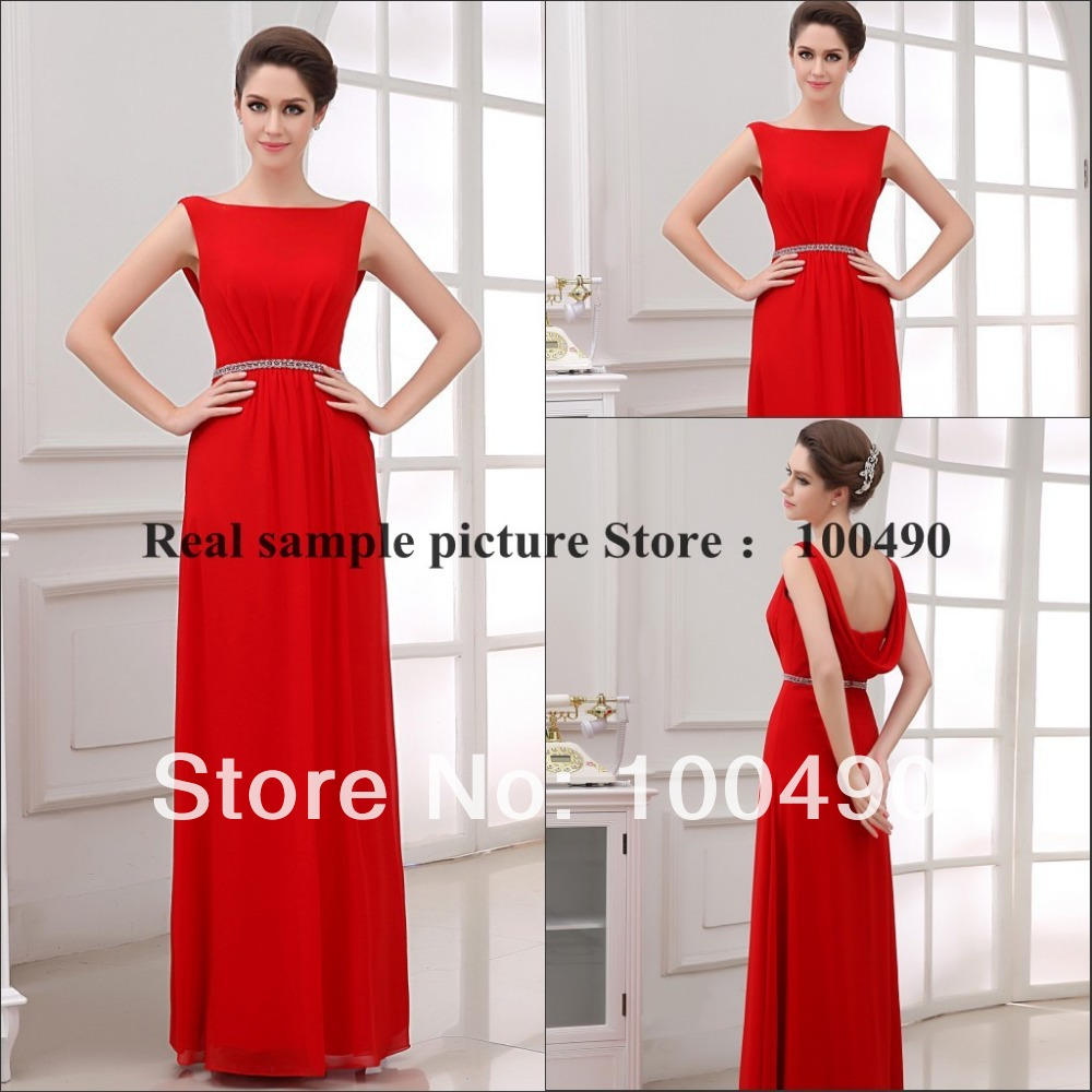 Elegant bateau neckline diamante sashes red adult 2014 real sample elegant bateau neckline diamante sashes red adult 2014 real sample dresses bridesmaid gown in bridesmaid dresses from weddings events on aliexpress ombrellifo Images