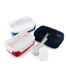 Freies Verschiffen Neue Bento Lunch Box Set Mit Chopstics + Löffel + Kühltasche Lebensmittelbehälter Thermische Bento Box