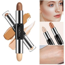 Face Concealer Contouring Bronzers Highlighters Pen Women Highlighter 3D Makeup Corrector Contour Stick Double-ended Cosmetic rorec bronzers