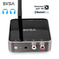 EKSA Bluetooth 5.0 Transmitter Receiver APTX HD Wireless Audio Adapter Optical Toslink/3.5mm AUX/SPDIF For TV Headphone Speaker