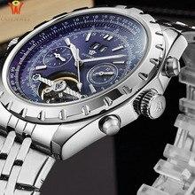 2018 OUYAWEI Automatic Mechanical Watches Men Top Brand Luxury Business Waterproof Stainless Steel Male Clock Relogio Masculino цена и фото