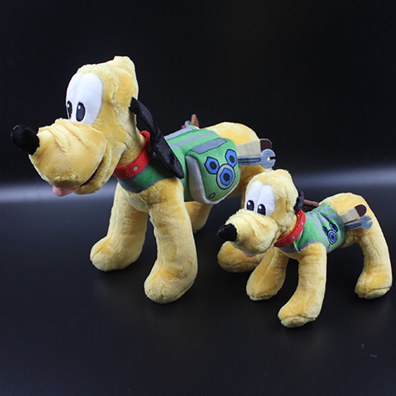 1PCS Rare Original Mickey Clubhouse Pluto Plush Toys Pluto Dog Puppy with Tool Box Soft Stuffed Animal Doll 20CM 30CM