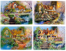 Diamond Embroidery 5D DIY Painting Garden landscape Scenery Rhinestone Cross Stitch Decoration