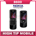 Abierto Original Nokia 8600 teléfono móvil Luna Mobile inglés ruso teclado e idioma poste de singapur envío gratis
