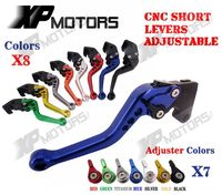 CNC Brake Clutch Levers For Yamaha TMAX530 XP530 2012 2013 2014 Adjustable Shorty Type