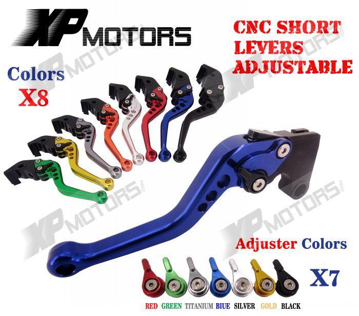 CNC Short Adjusterable Brake Clutch Lever For Suzuki GSF650 Bandit 2005 2006 GSF 650 05 06 New adjustable short straight clutch brake levers for suzuki gsx 650 f gsf 650 bandit n s dl 1000 v strom 2002 2015