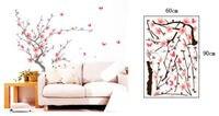 Fleur De Prunier Papillon Arbre Énorme Stickers Muraux Art Mural Enfants Wallpaper 60X90 CM