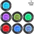 "Apoyo EE 2 ""Digital Relojes de Colores LED Medidor de Temperatura Medidor de Temperatura del Agua 52mm Tint Len car styling XY01"