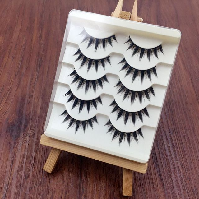 5 Pairs Women Japanese Serious Makeup False Eyelashes Long Thick Natural Beauty Eye Lash Extension DIY Cosmetic Fake Eyelashes 4