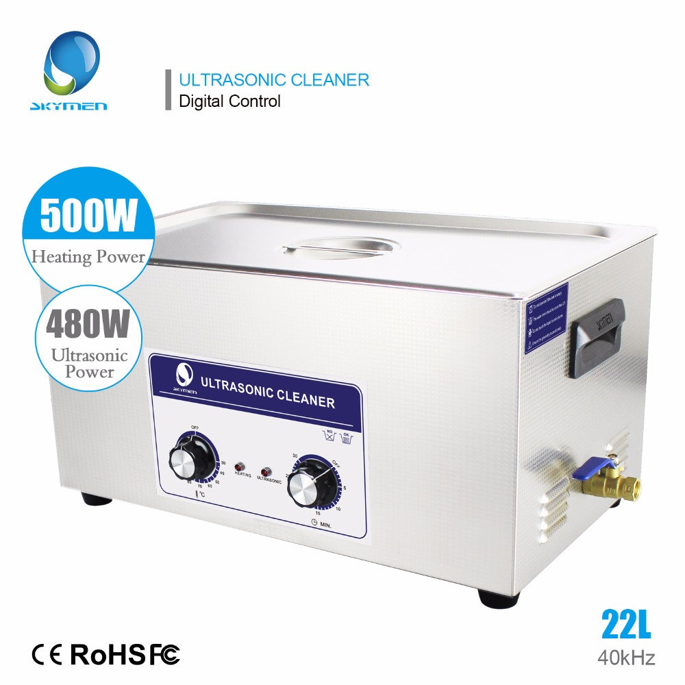 SKYMEN Professional Stainless Steel Ultrasonic Cleaner 22L For Hospital Industrial Auto Engine Parts Auto parts цены