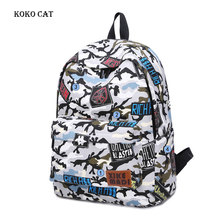 купить Women Travel Backpack Teenage Girls Schoolbag Large Capacity Canvas Female Rucksack Camouflage printting college style bookbag дешево