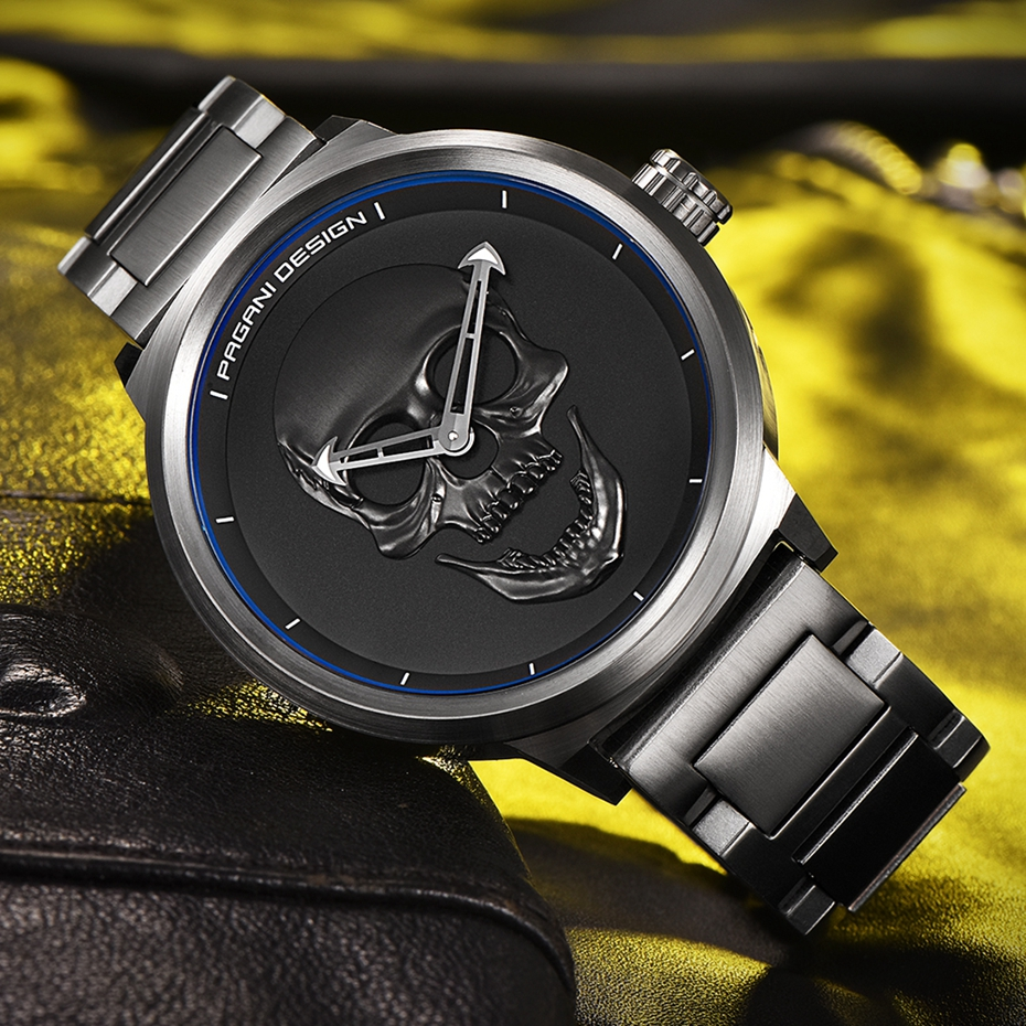 Top Luxury PAGANI DESIGN Punk 3D Skull Watch Men's Retro Fashion Watch Brand Man Clock Military Aviator Quartz Relogio Masculino (23)