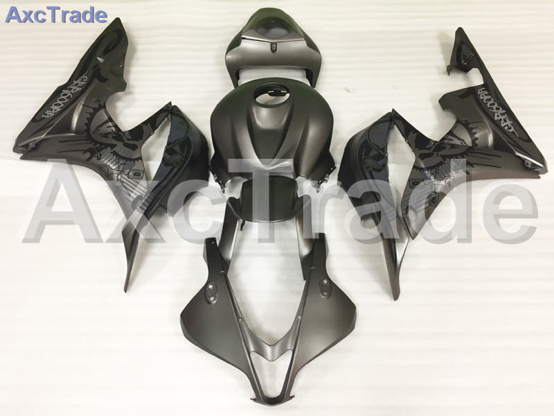 Motorcycle Fairings For Honda CBR600RR CBR600 CBR 600 RR 2007 2008 F5 ABS Plastic Injection Fairing Bodywork Kit Black A615 abs injection fairings kit for honda 600 rr f5 fairing set 07 08 cbr600rr cbr 600rr 2007 2008 castrol motorcycle bodywork part