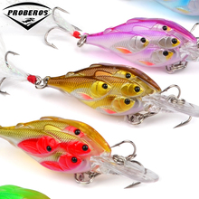 5pc Painted Fishing Lures 2.76″-7cm/0.22oz-6.22g Crank Bass Baits with Retail PVC Box Package Fishing Tackle