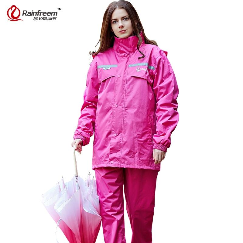 Rainfreem Impermeable Raincoat Kvinner / Herre Regn Poncho Vanntett - Husholdningsvarer - Bilde 3