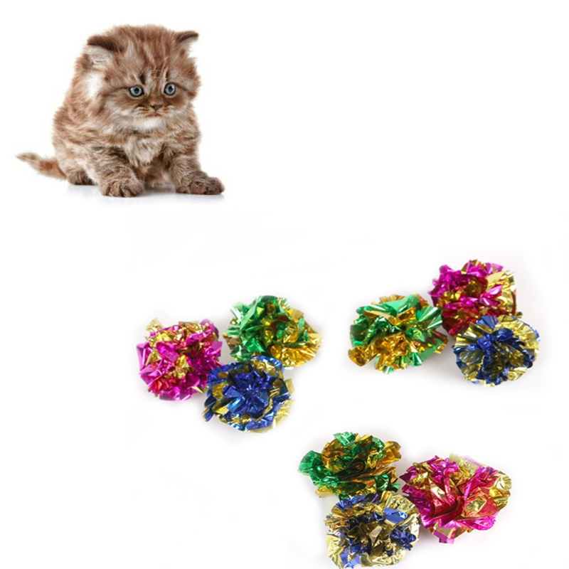 Colorful Crinkle Crackle Cat Toy