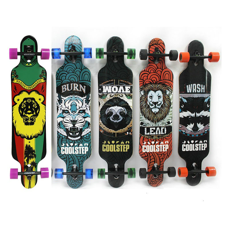 42inch Professional Skate Board Canadian Maple Longboard Skateboard Cruiser 4 Wheels Cruiser Street Deck Waveboard Balance Board famous russian brand union board full canadian maple wooden deck skateboard 8 patins street 10types available