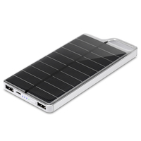 גודל קטן PowerGreen מטען סולארי 10000 mAh בנק חשמל סולארי נייד מטען סוללות חיצוני עבור טלפון
