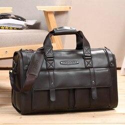 Real COW leather men's travel bag large capacity business bag Handbag fashion design genuine leather weekend duffle handbag