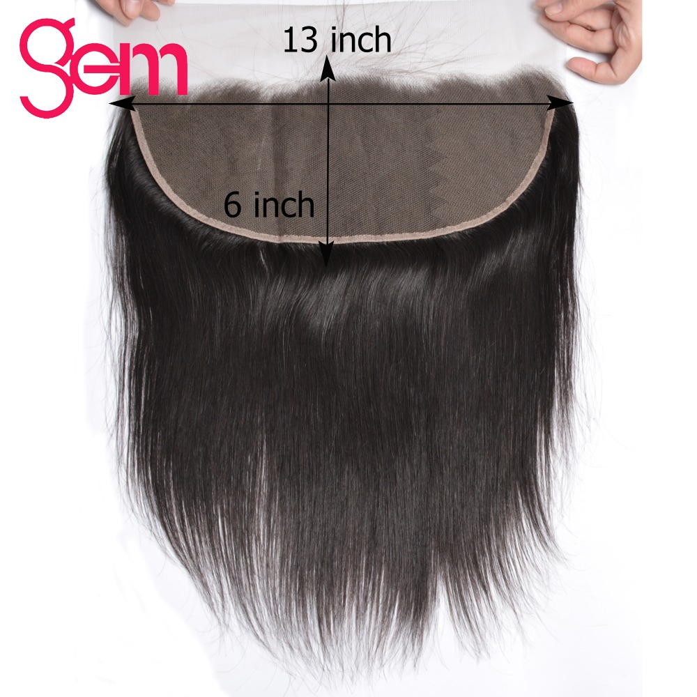 13x6 Eat To Ear Brazilian Straight Hair Lace Frontal Free Part Pre Plucked Frontal With Baby