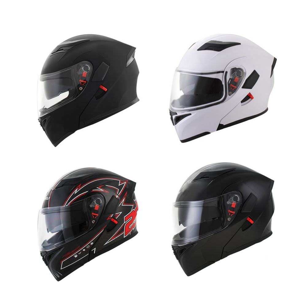 2018 Fashion Visor Exposing Double Lens Face Motorcycle Helmet Winter Open Face Racing Helmets Motocross Face Protector 2017 new yohe open face motorcycle helmet yh936 knight safety undrape face motorbike helmets made of abs and pc visor lens