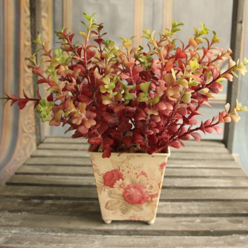 2016 vysoce kvalitní simulace mini peníze listy umělé rostliny pro dekorace plastové cemen rostliny umělé květiny