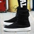 High Top Sapatos Casuais sapatos de Caminhada Respirável Zapatillas aumentou plataforma Ankle Boots de Camurça Superstar kanye west botas Chelsea