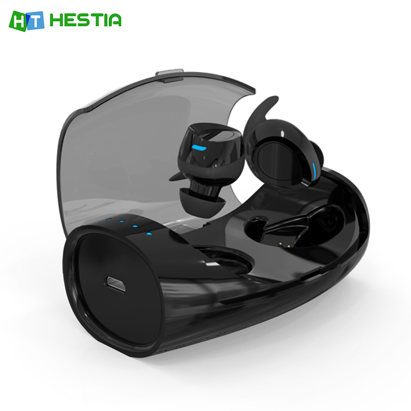 HESTIA XHH-ES60 TWS Bluetooth Earphone Mini Bluetooth V4.2 Headset Double True Wireless Sport Earbuds for Iphone & Android phone mini style wireless bluetooth earphone v4 1 sport headphone phone bluetooth headset with micro phone for iphone android bt023